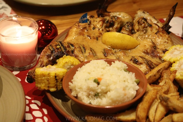 Nando's Everyone's Platter consist of a whole chicken perfectly grilled, corn-on-the-cob, Peri-peri wedges, Mediterranean rice and salad.