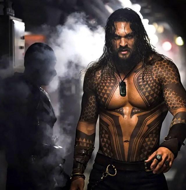 Jason Mamoa as Aquaman.