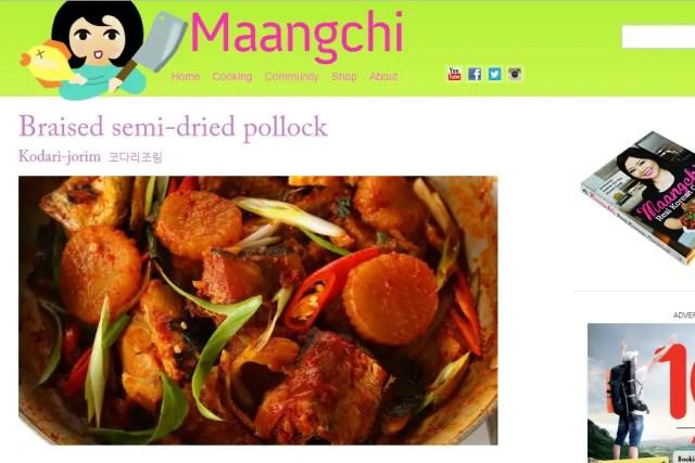 Screenshot from Maangchi