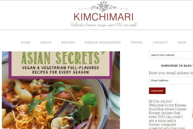 Screenshot from https://kimchimari.com/.