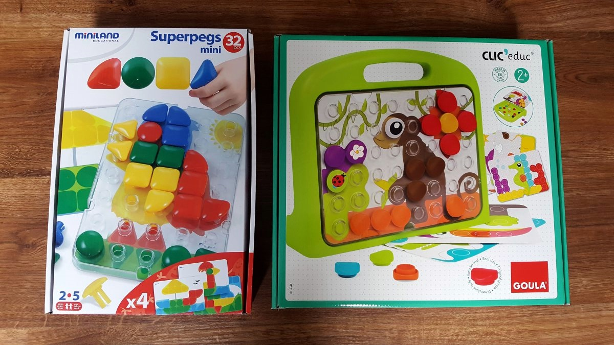 Tablice edukacyjne dla 2-latka Miniland i Goula