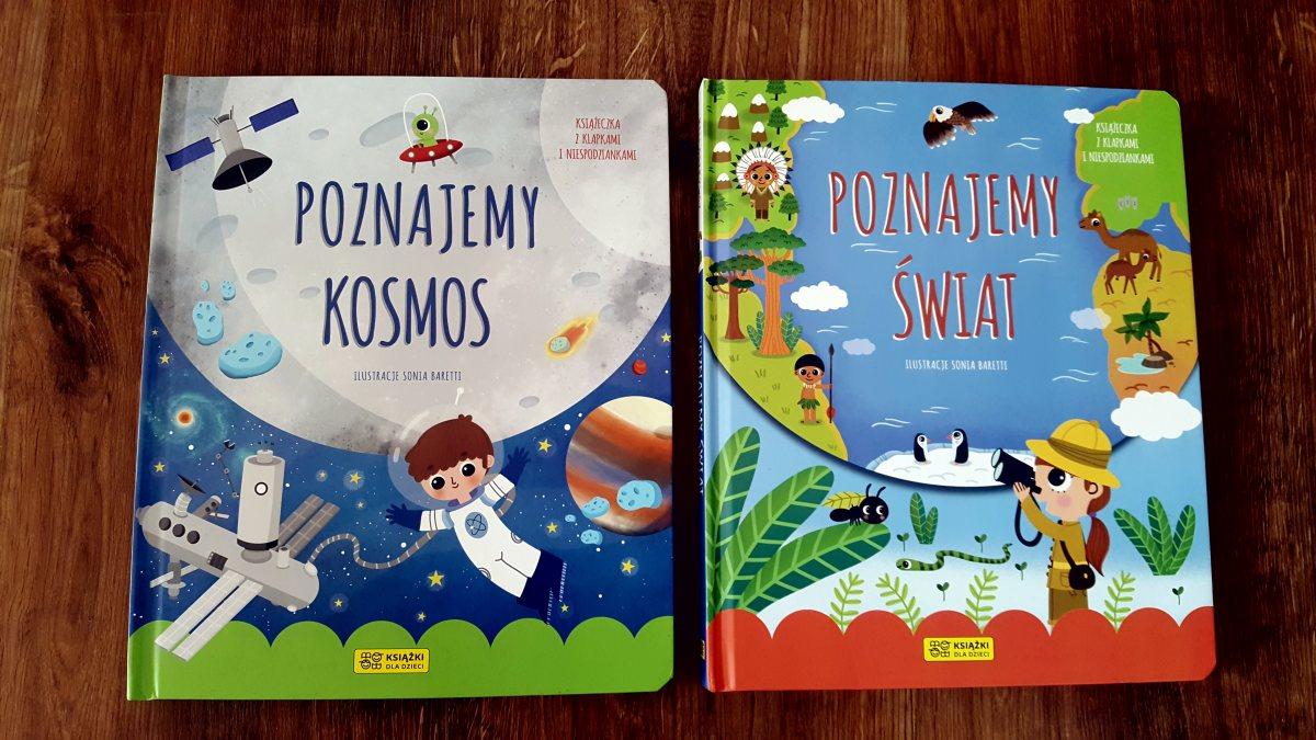 Książki z okienkami z serii Mali Odkrywcy - Poznajemy świat i Poznajemy kosmos