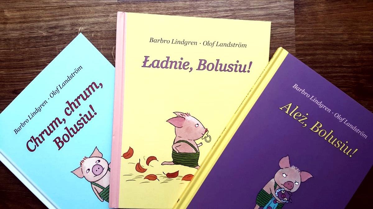 Seria książek o Bolusiu od wydawnictwa Zakamarki