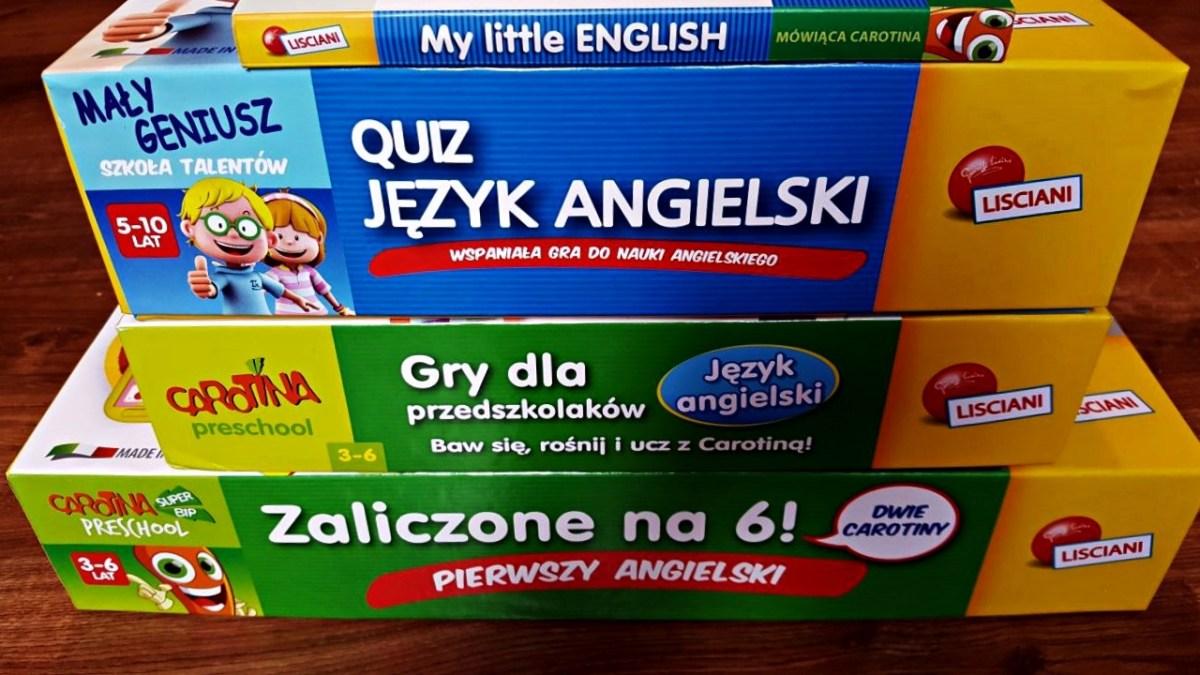 Nauka języka angielskiego dla dzieci z Carotina Lisciani