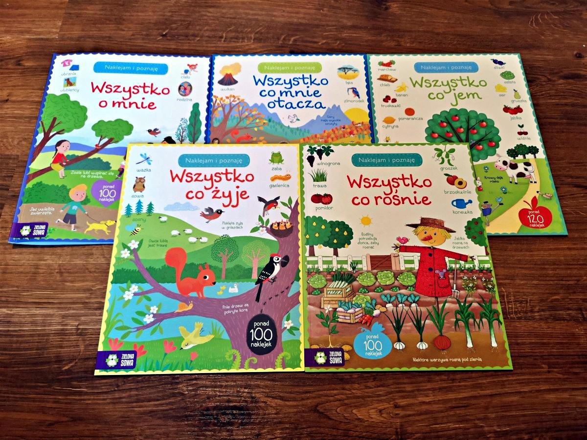 Naklejam i poznaję - książki z naklejkami od Zielona Sowa