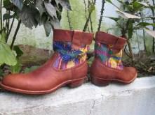 Short Straight Boot with San Juan Sacatepequez Huipil