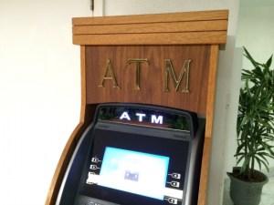 ATMで新札を用意する