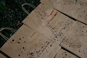 柿渋染めの手提げ紙袋