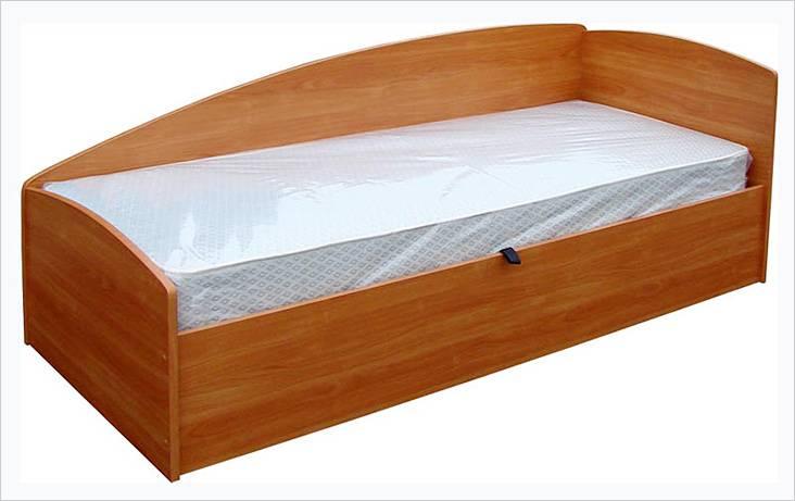 Μονό κρεβάτι από το Chipboard