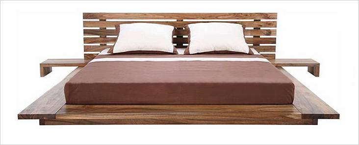 Σπιτικό ξύλινο κρεβάτι