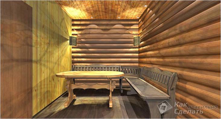 Дизайнерская мебель для бани