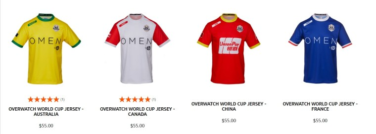 finest selection 4302d b1532 Overwatch World Cup Jerseys Are Back on Sale – KAKUCHOPUREI.COM
