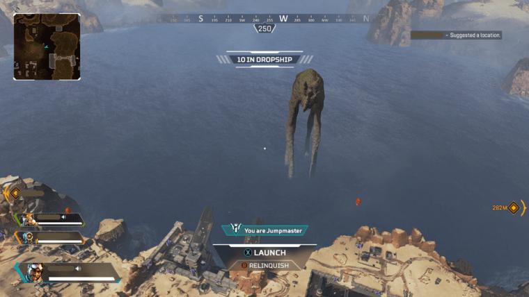 Apex Legends Leviathan facing land