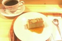 島プリンとコーヒー