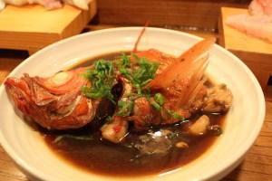 伊豆稲取 魚八寿司 金目鯛の煮付