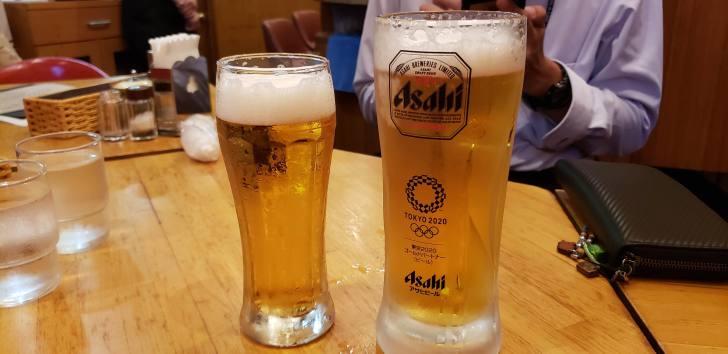 ビールの大と中