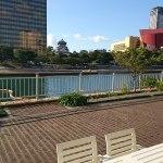 川沿いの 小倉のカフェ