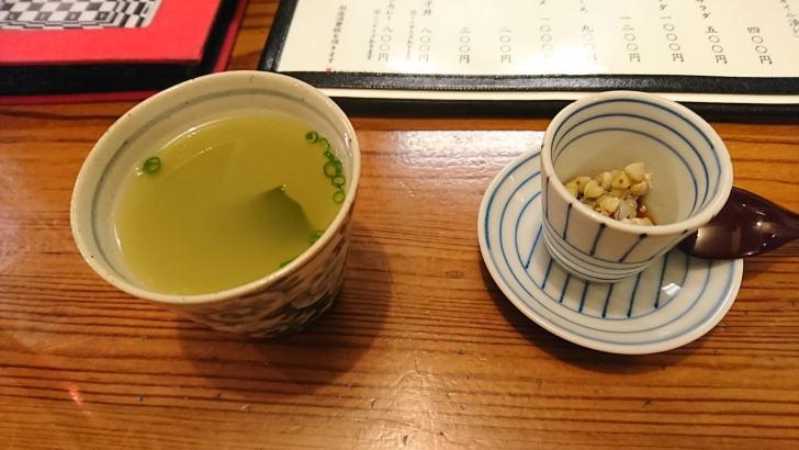 鳥スープとそばの実