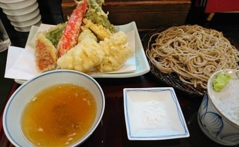 小倉の蕎麦屋 しらいし 【 天ざる 】