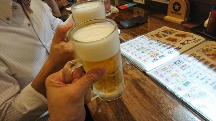 ビールで乾杯 ♪