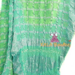 AquaMarine - PaleGreen Gharchola Saree