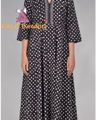 Black Bandhani Long Kurta
