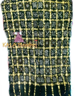 Bottle Green Gharchola Saree