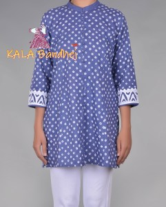 Blue Bandhani Short Kurta