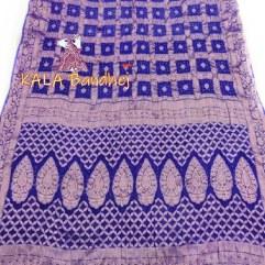 Blue Pure Georgette Bandhani Gharchola Saree