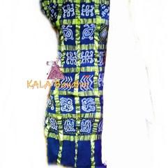 RoyalBlue - White Cotton Gharchola DressMaterial