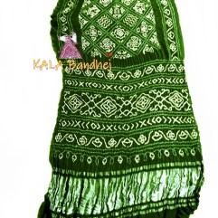 BottleGreen GajiSilk BavanBaug Bandhani Saree