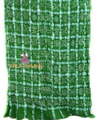 Forest Green Bandhani Gharchola Saree