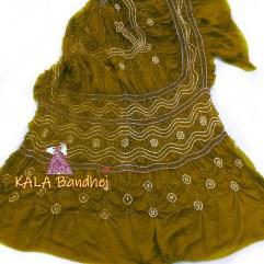 GoldenRod GajiSilk Bandhani Dupatta