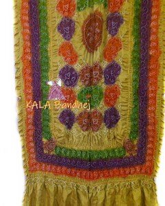 GoldenRod GajiSilk Shikari Multi-Color Dupatta