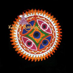 Black Circle Kutchi Work Patch #5