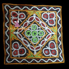 Black Square Kutchi Work Patch #2