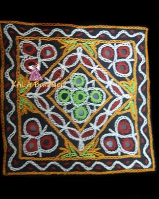 Black Square Kutchi Work Patch #2