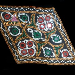Black Kaju Katli Kutchi Work Patch