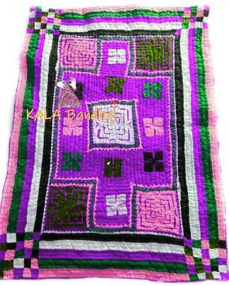 Magenta Kutchi Handmade Dharki / BedSheet