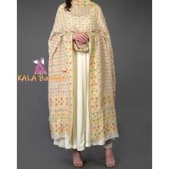 Ivory Banarasi Meenakari Zari Bandhej Dupatta With Suit