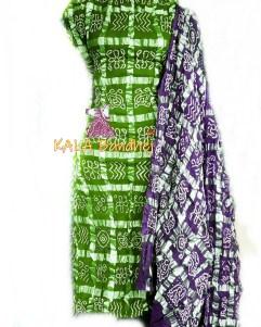 Parrot - D Magenta Cotton Gharchola DressMaterial