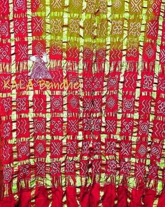 Red-Olive Gharchola Saree
