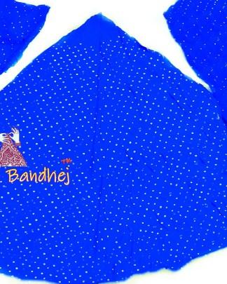 Royal Blue GajiSilk Bandhani Chaniya Choli