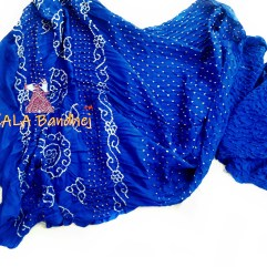 Royal Blue Gaji Silk Saree