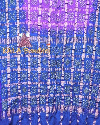 SkyBlue-Jambli Gharchola Saree