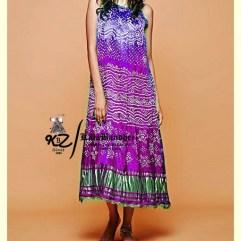 Purple-Megenta GajiSilk Gown