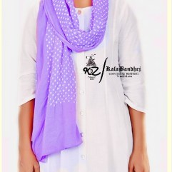 Pal Purple Cotton Bandhani Dupatta