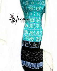 Rama-Black GajiSilk Gharchola DressMaterial