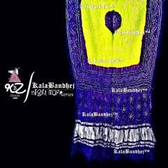 Blue Jb -Lemon Gaji Silk Bandhani Dupatta