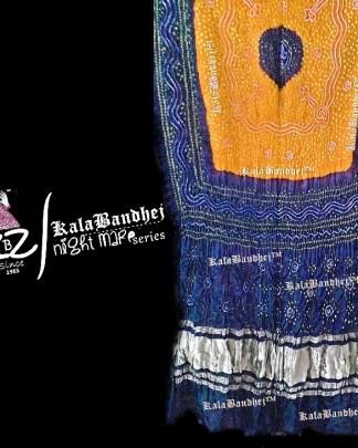 Blueish-Rust Gaji Silk Bandhani Dupatta